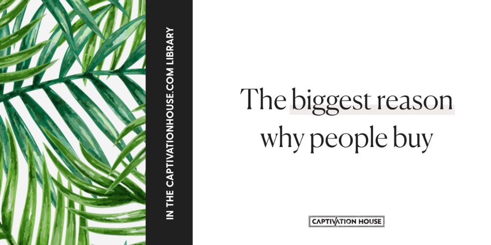 The biggest reason why people buy