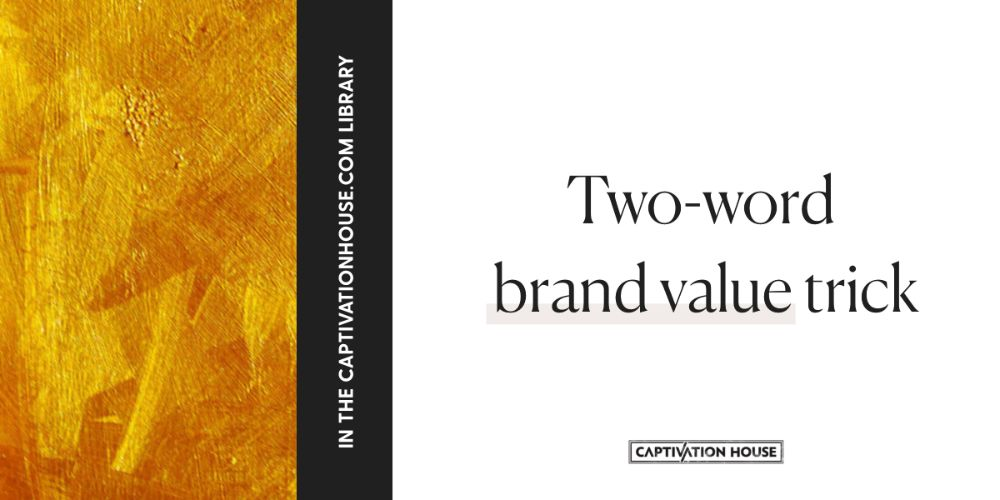 Two-word brand value trick